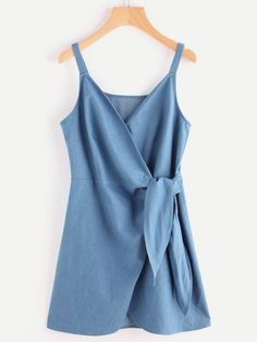 Shop Self Tie Wrap Chambray Cami Dress online. SheIn offers Self Tie Wrap Chambr… Shop Self Tie Wrap Chambray Cami Dress online. SheIn offers Self Tie Wrap Chambray Cami Dress & more to fit your fashionable needs. Trendy Dresses, Trendy Outfits, Blue Dresses, Casual Dresses, Summer Outfits, Cute Outfits, Summer Dresses, Wrap Dresses, Sleeve Dresses