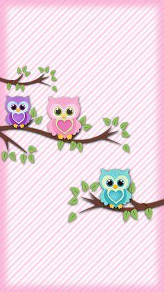 Cute Pink Owl Wallpaper