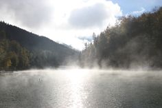 Herbstnebel über dem Riessersee, Garmisch-Partenkirchen, Bayern - http://www.riessersee.com/