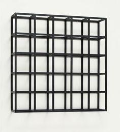 Sol LeWitt | Cubic-Modular Wall Structure, Black | 1962