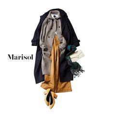 大人ピンク×デニムコーデから上品ネイビーセットアップコーデまで【アラフォー冬の1週間コーデ】Marisol ONLINE|女っぷり上々!40代をもっとキレイに。