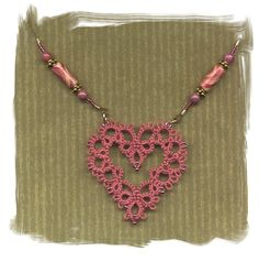 Tatting. How to incorporate tatted heart into necklace. (Inspiration)