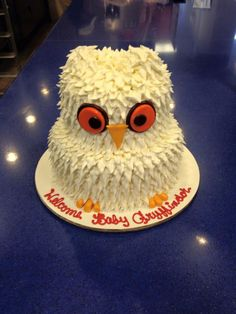 Hedwig Baby Shower Cake  on Cake Central