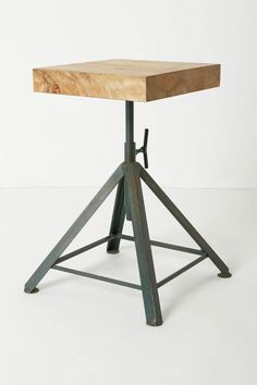 Square Pedestal Stool, could use this as a nightstand!