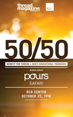 Thread Magazine  & BCA 50/50 Party featuring pours and Sarfar!