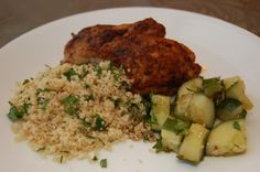Chicken Thighs and Couscous ~ The Peachy Pair