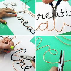 Do you have a favorite motto on mantra you try to live by? Us too! After a trip to the hardware store, we came up with making some of our favorites into wall art using...electrical wire. It might seem a bit crazy, but the results literally speak for themselves. Read on to learn how to make your own words of wisdom wall art out of wire.