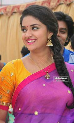 Keerthi Suresh the brand new hot star of the South Indian Movie industry is winning hearts across the filmdom , and have managed to garner . Cinema Actress, Indian Film Actress, South Indian Actress, Indian Actresses, Actress Pics, South Actress, Prettiest Actresses, Hot Actresses, Beautiful Actresses