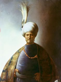 1. Süleyman, Kanuni 1520 - 1566. Old man with turban - Sultan Soliman, Tronie van een oude man met tulband - Sultan Soliman, circa 1625, Sanssouci Potsdam. Jan Lievens (24 October 1607 – 4 June 1674) was a Dutch painter, usually associated with Rembrandt, working in a similar style.