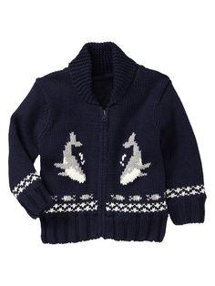 Intarsia Whale Sweater