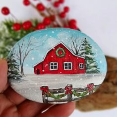 Stone Art Painting, Dot Art Painting, Rock Painting Designs, Pebble Painting, Acrylic Paintings, Handmade Christmas Decorations, Christmas Ornament Crafts, Snowman Crafts, Ornaments
