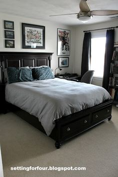 Setting for Four: Teenage Boy's Bedroom - transitional style that isn't overly themed