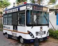 Chinese Police Van, Shenzen, China. Looks like a motorhome.