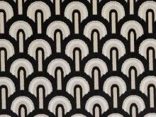 Brockhall Designs Art Deco Arches Velvet Fabric - Curtains and Upholstery - The Millshop Online #fabric