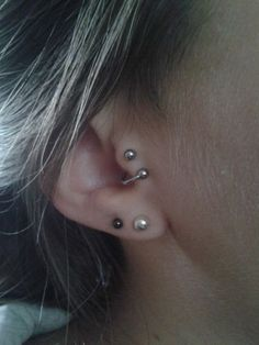 Spiral Tragus Ear Piercing Jewelry at MyBodiArt