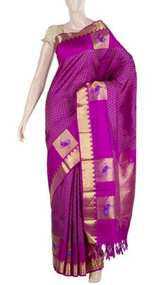 Pure Handloom Silk Saree With Pure Zari