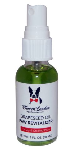 Grapeseed Oil Paw Revitalizer by Warren London - for Paw Pads on Dogs