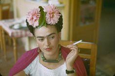 Frida Kahlo Smoking: photo by Nickolas Muray