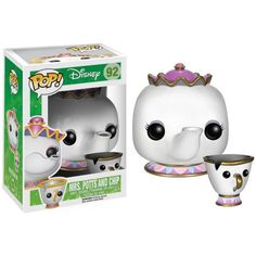 Disney Vinyl Beauty and the Beast Mrs. Potts & Chip The head of the kitchen and her son from Disney& Beauty and the Beast are now a vinyl figures! The Beauty and the Beast Mrs. Potts and Chip Pop! Funk Pop, Disney Pop, Disney Pixar, Pop Figurine, Figurines Funko Pop, Funko Figures, Disney Figurines, Pop Vinyl Figures, Pop Figures Disney