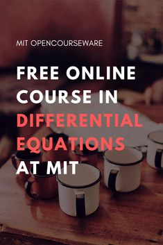 94 Best Mathematics at MIT | Free from MIT OpenCourseWare images in