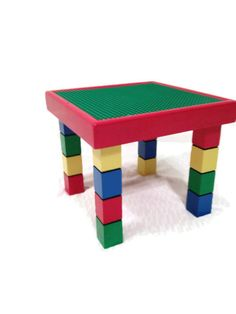 Small Kids Activity Table   Childrenu0027s Furniture   Small Play Table   Gifts  For Kids   Kids Playroom Furniture, Red, Yellow, Blue, Green