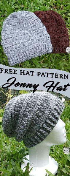 Free Crochet Hat Pattern #freepattern #crochet #CrochetBeanie