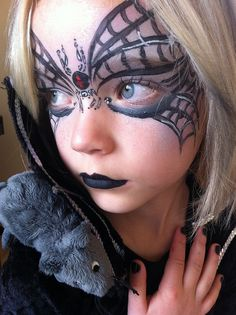 I love this @Gretel Sneath Hurych!!! Just get rid of the spider on the eyes and maybe put it on the lips! I don't know, whatever you think will look good!