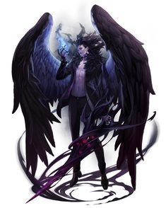 I can imagine it being a fallen angle that love nothing more that to destroy and kill. That's why  I picked this image