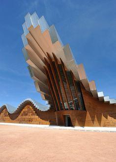 ♀ Modern architecture exterior - Ysios Bodega | Laguardia, Spain #spain ☮k☮ #architecture