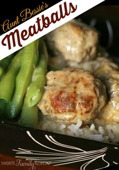 You won't feel guilty eating these Aunt Bessie Meatballs! When I was a kid I had no idea how many veggies were in these--your kids won't realize it either! #meatballs #meatballrecipe