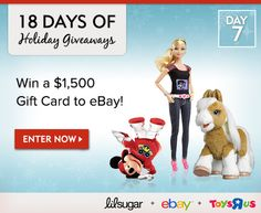 18 Days of Holiday Giveaways, Day 7: Win a $1,500 Gift Card to eBay!