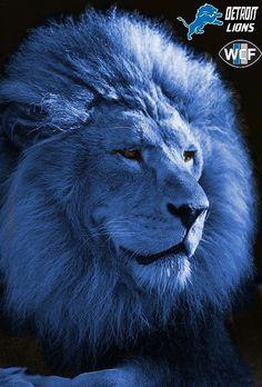 BLUE DETROIT LION
