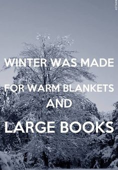 Winter was made for warm blankets and large books.