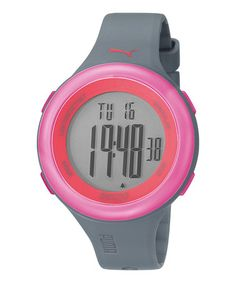 Take a look at this Pink Fit Chronograph Watch - Women by PUMA on #zulily today!