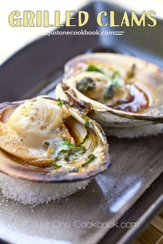 Grilled Clams (Little Neck Clams) はまぐりの醤油焼き | Easy Japanese Recipes at JustOneCookbook.com