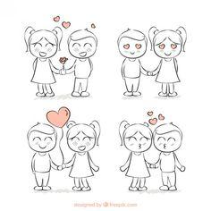 dibujos de parejas a