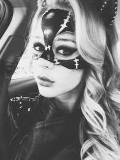 Cat woman painted mask