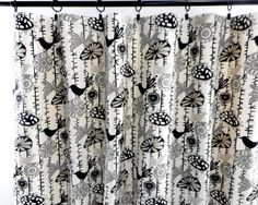 Onyx Curtain. 2 panel curtain. Onyx and by TwistedBobbinDesigns