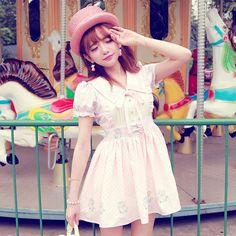 Lovely Bobon21 new Unicorn print sweet Ice-cream style summer dress 10-days pre-order time!  100% Polyester Size: S: Shoulder: 32cm, Bust: 82cm, Waist: 64-76cm, Long: 74cm M: Shoulder: 32.5cm, Bust: 86cm, Waist: 68-80cm, Long: 77cm L: Shoulder: 33cm, Bust: 90cm, Waist: 72-84cm, Long: 80cm