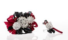 Jeweled Corsage shown with Matching Boutonniere for Him