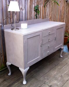 Mahogany sideboard - Annie Sloan's French linen
