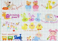 Cross Stitch For Kids, Cross Stitch Cards, Cross Stitch Baby, Cross Stitch Alphabet, Cross Stitch Embroidery, Embroidery Patterns, Cross Stitch Designs, Cross Stitch Patterns, Baby Kind