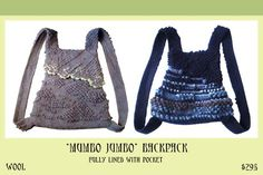 Vividworks Bags. Felt designs by Den Jones