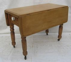 A-Victorian-pine-drop-leaf-Table