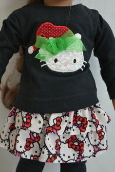 Hello Kitty Christmas Applique Ensemble by ThreadsAndSplinters, $21.00