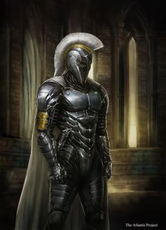 Artwork of The Atlantis Project Series written by Jake Parrick. The Atlantis Project is an all new original Epic Fantasy Series. Fantasy Armor, Dark Fantasy Art, Medieval Fantasy, Fantasy Series, Fantasy Men, Armadura Medieval, Armor Concept, Concept Art, Gods Of War
