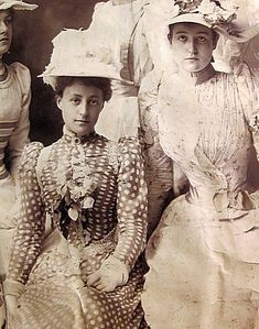 """Grace Wilson Vanderbilt in poka dots.  Grace Wilson Vanderbilt once said that: """"I feel deeply for poor dear Marie Antoinette, for if The Revolution came to America, I should be the first to go."""""""