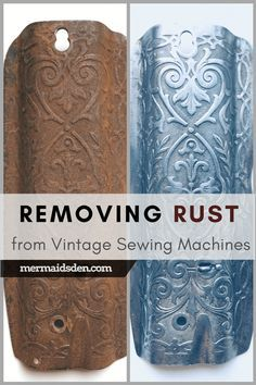 In this post, I'll walk you through the process of removing rust from your vintage sewing machine in order to clean and restore it.