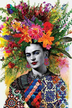 Gitana Frida Canvas Artwork by Ana Paula Hoppe - Art & Photography Expo Frida Kahlo Artwork, Frida Paintings, Frida Kahlo Portraits, Frida Art, Frida Kahlo Prints, Frida Kahlo Exhibit, Art Paintings, Diego Rivera, Canvas Artwork