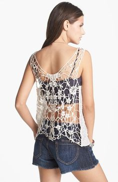 LOVE open back crochet tank